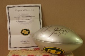 Eskimo Football signed by Chris Getzlaf