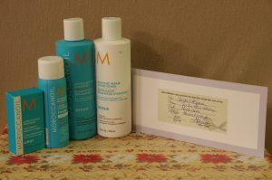 Haircut & Style with Morrocan Hair Product