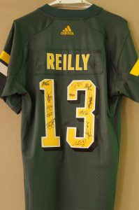 Mike Reilly Jersey signed by the Edmonton Eskimos