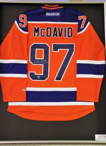 Signed McDavid Jersey in Shadow Box