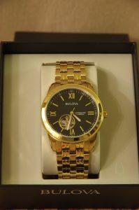 Mens Automatic Gold Bulova Watch