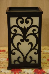 Partylite Candle Holder with Interchangable Decorative Sides