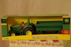 Toy Tractor & Wagon