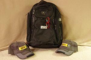 Backpack & 2 Ball Caps