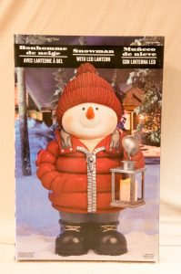Snowman Christmas Decoration with LED Lantern