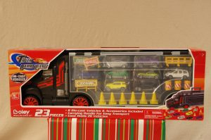 Truck Carrying Case with Die-Cast Vehicles