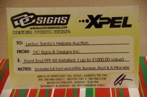 DC Signs Paint Protection Film Gift Certificate