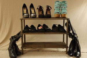 Assorted Ladies Footwear / Shoe Rack Included Size 8