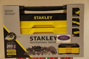 203 Piece Stanley Tool Set with 3 Drawer Chest