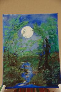 Forest Moon Painting