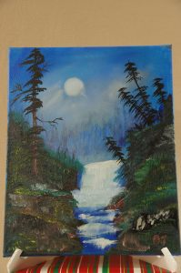Evening Waterfall Painting