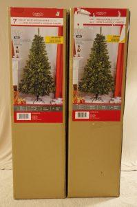 7' Pre-Lit Christmas Tree x 2