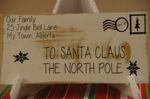 To: Santa Claus Letter Wall Art