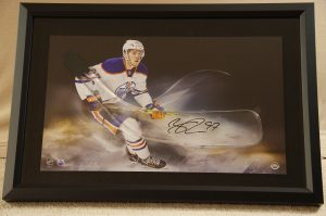 Connor McDavid Print with Acrylic Signed Blade
