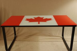 Canada Flag Coffee Table