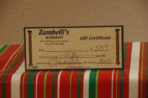 Zambelli's $50 Gift Card