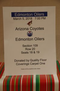 3 Oiler Tickets vs. Arizona Coyotes March 5th Section 109 Row 20